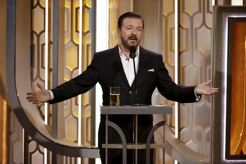 Ricky Gervais var vært ved den 73. Golden Globe Awards i Beverly Hills, California, den 10. januar