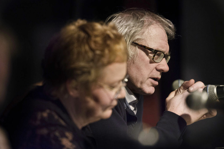 Helle Merete Brix ses her sammen med Lars Vilks ved et tidligere arrangement.