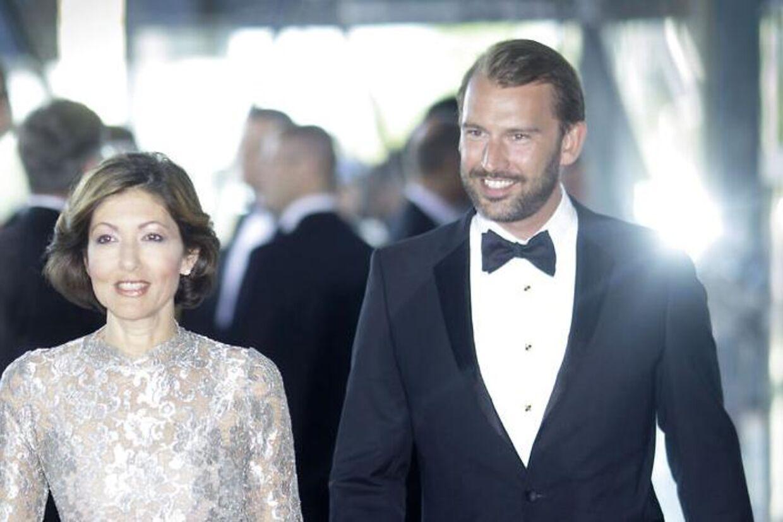 Så glade så grevinde Alexandra og Martin Jørgensen ud, da alt endnu var godt imellem dem. Arkivfoto.