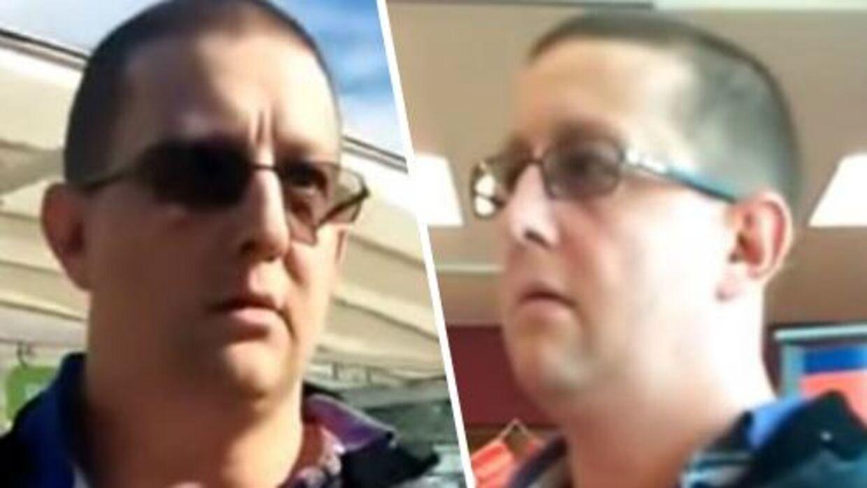Her ses Craig Chapman, der blev konfronteret af parret.