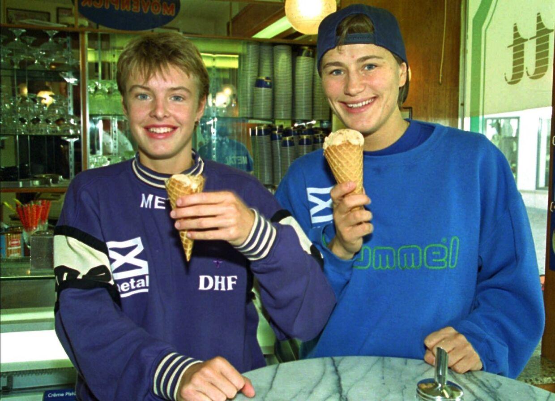 Camilla Andersen og Anja Andersen i 1994.