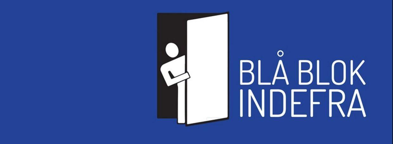 Blå Blok Indefra logo på Facebook.