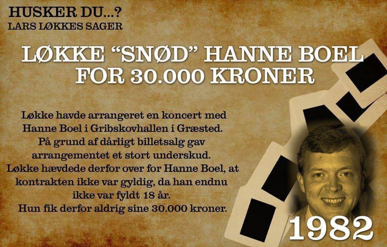 Flere billeder på Blå Blok Indefra gennemgår forskellige perioder i Lars Løkke Rasmussens liv, hvor han angiveligt har optrådt utilstedeligt. Her er vi i 1982.