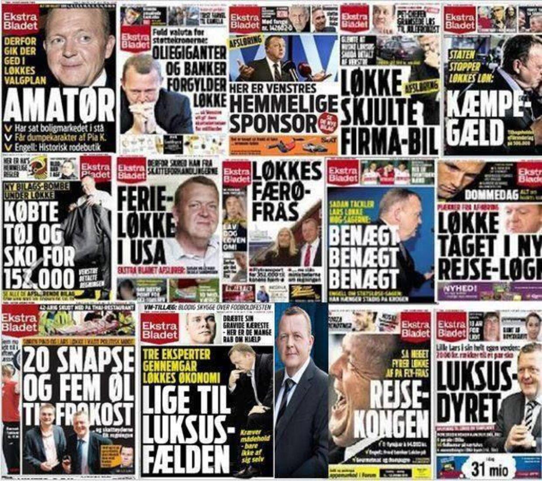 En grafik med 14 kritiske forsider fra Ekstra Bladet med Lars Løkke Rasmussen er blevet delt 225 gange.