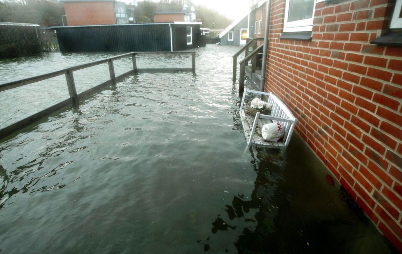 Husene er hårdt ramt i Lemvig efter Egon-stormen.