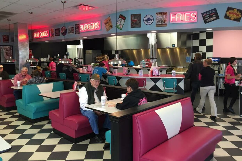 Sådan ser en typisk Hwy 55-restaurant ud.