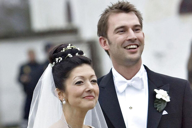 Sådan så det ud, da grevinde Alexandra og Martin Jørgensen blev gift i 2007.