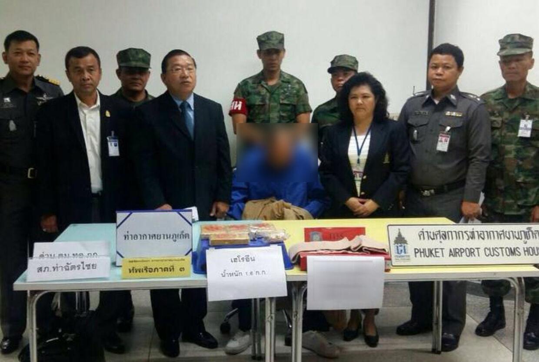 De thailandske myndigheder har fanget en dansker, som skulle have forsøgt at smugle 1,6 kilo heroin fra Phuket til København.