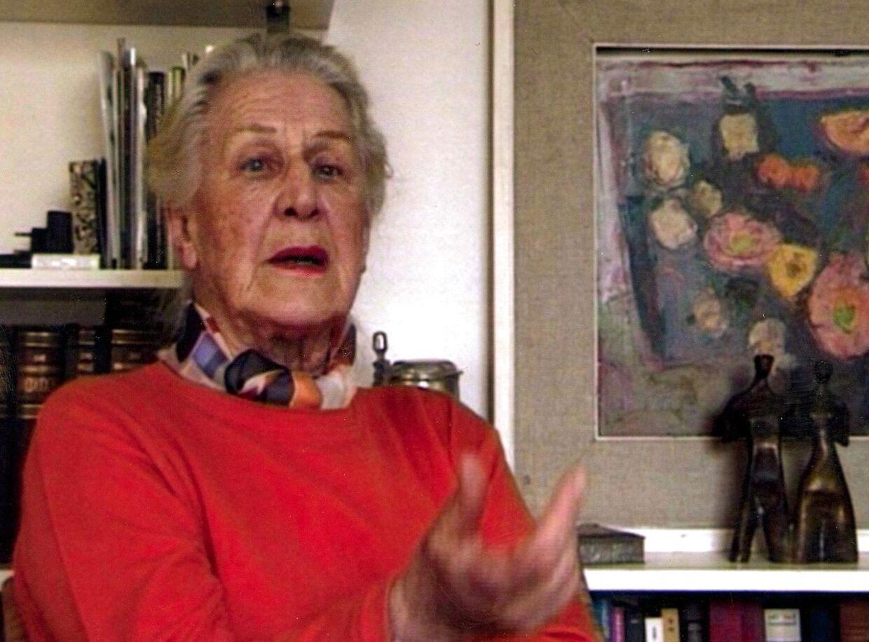 Traudl Junge som hun så ud kort før sin død i 2002. Hitlers sekretær valgte flugten fra førerbunkeren.