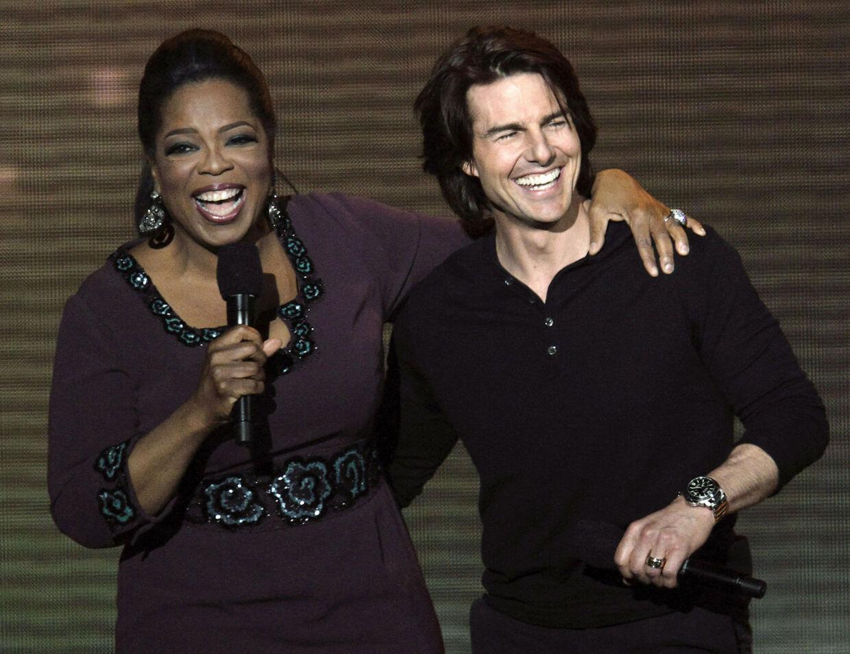 Oprah Winfrey og Tom Cruise tilbage i 2011.