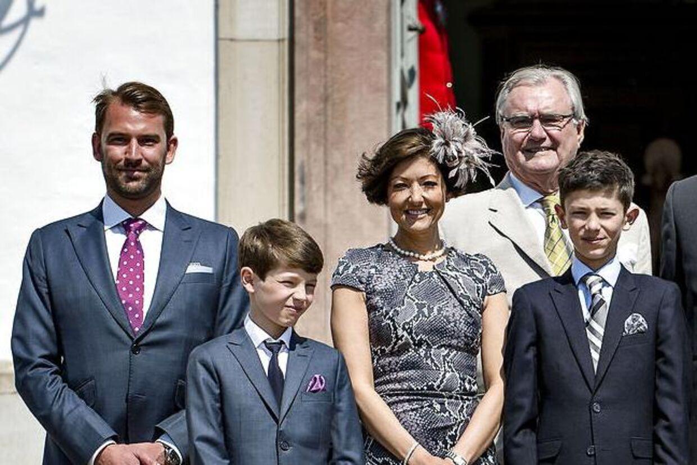 Alt var endnu lytter idyl, da Prins Nikolai i 2013 blev konfirmeret, hvor både Martin Jørgensen og grevinde Alexandra var med.