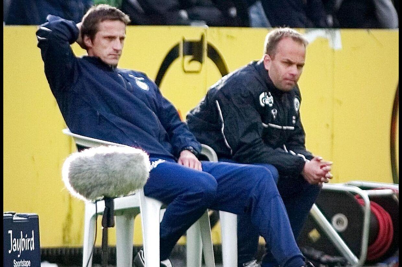 Klavs Rasmussen (til højre) har tidligere været træner i OB sammen med Troels Bech.