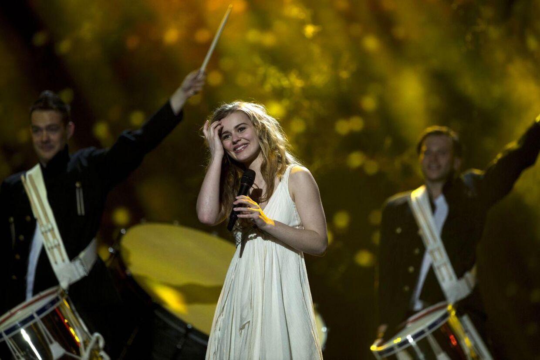 Emmelie de Forest går på scenen i aften i Malmø som nummer 18.