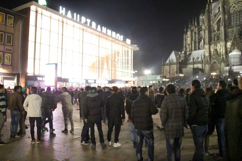 Banegårdsområdet i Köln, hvor overgrebene skete nytårsaftensnat.