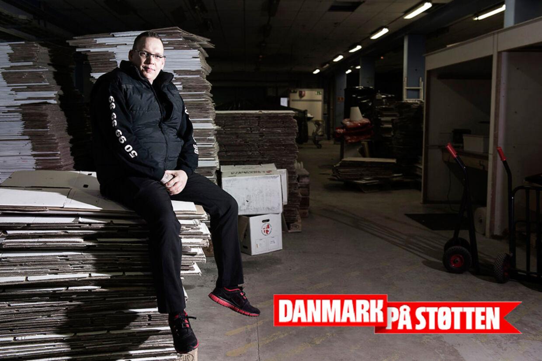 Flyttemand Thomas Mortensen fra flyttefirmaet Sjælland.