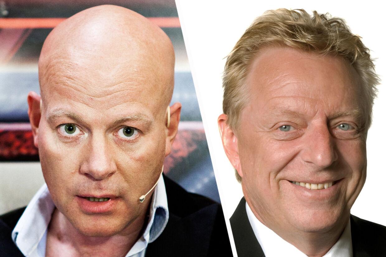 Det var ikke ligefrem sød musik, der opstod, da de to herrer Thomas Blachman (tv) og folketingsmedlem for DF Kim Christiansen mødtes ved en audition til X Factor.