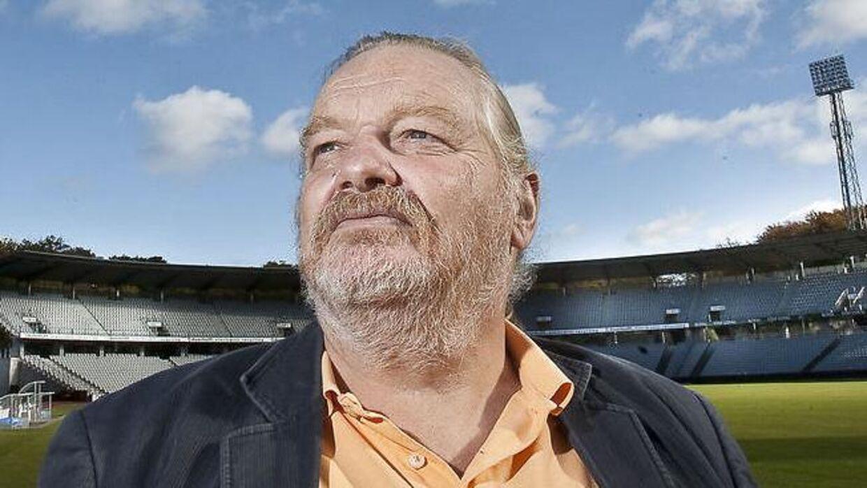 Flemming Bamse Jørgensen var inkarneret AGF-fan og skrev sammen med Thomas Helmig AGF-sagen 'De Hvide fra Fredensvang. Arkivfoto: Axel Schütt