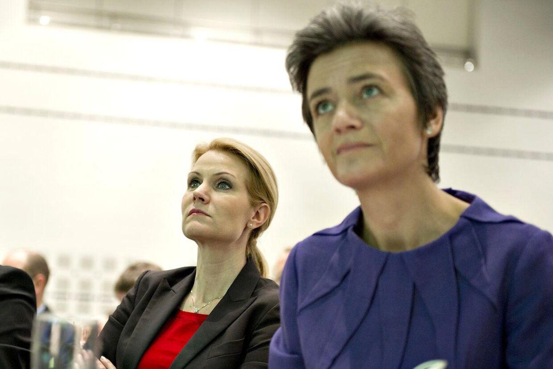Helle Thorning-Schmidt og Margrethe Vestager. Arkivfoto