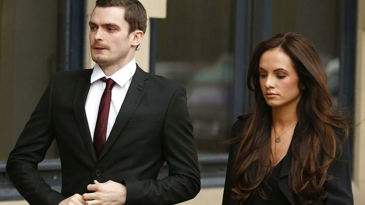 Adam Johnson og kæresten Stacey Flounders.