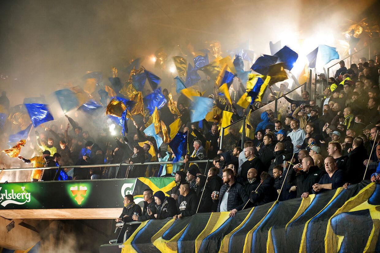 ARKIV: Ingen af disse Brøndby-fans havde noget at gøre med hændelsen.