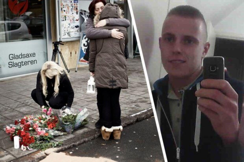 Pårørende lagde blomster på gerningsstedet, hvor Jonathan Taboryski blev dræbt, lørdagen igennem.