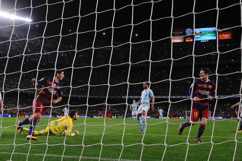 Luis Suarez og Lionel Messi.