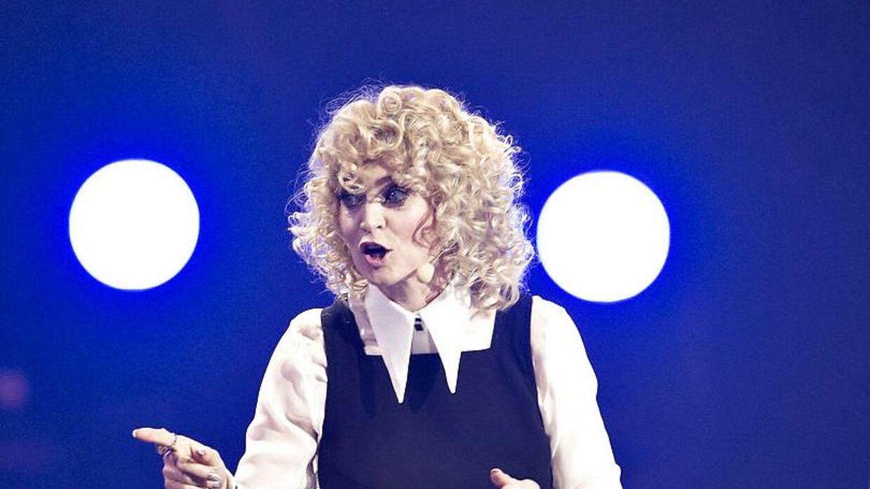 Annette Heick er blevet sammenlignet med et får på grund af sin frisure lørdag aften.