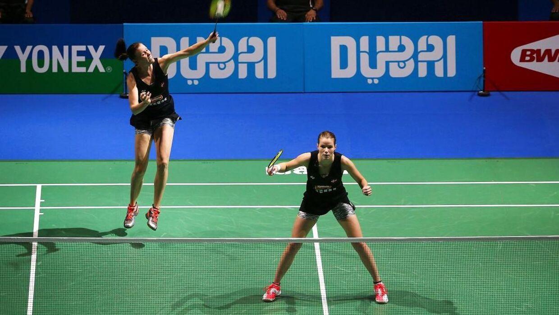 Kamilla Rytter Juhl og Christinna Pedersen er klar til sæsonfinalen i Dubai.