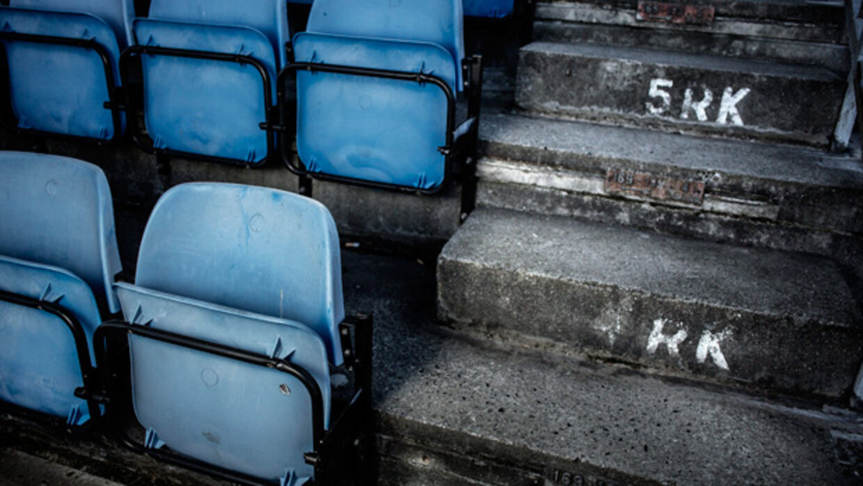 Spillerne kom fra Hvidovre IF. Dette billede er taget fra hjemmebanen Hvidovre Stadion.