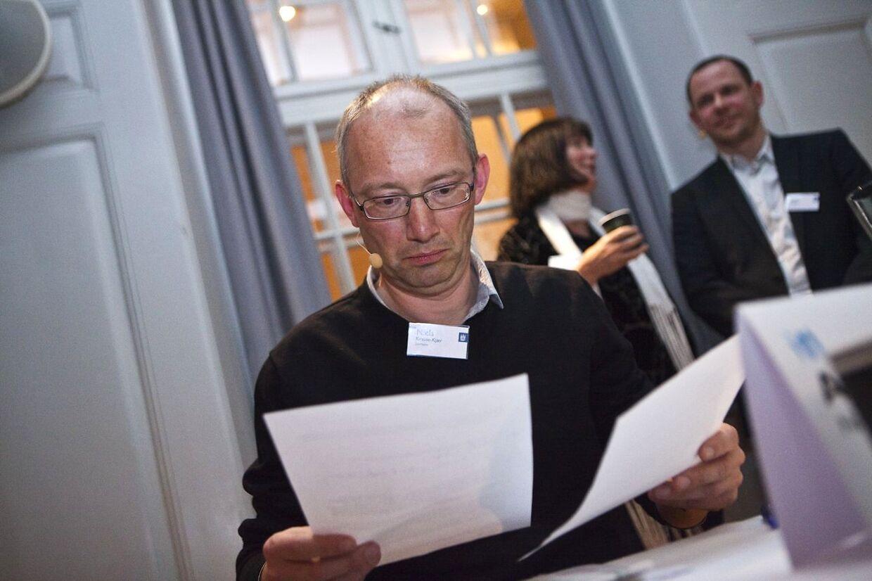 Niels Krause Kjær mener, at et notat udarbejdet på B.T. i forbindelse med de to journalistpriser, FUJ og Cavling, er det samme papir som departementschef Peter Loft har haft med til et møde med SKAT iKøbenhavn.
