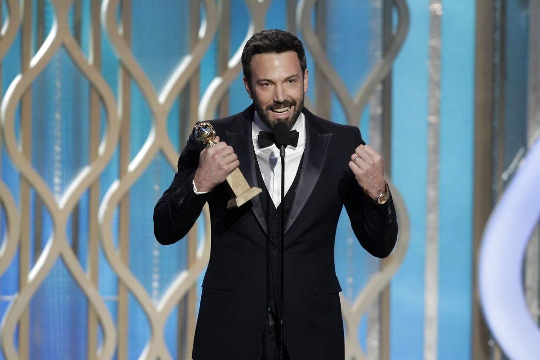 Ben Affleck modtager en Golden Globe for bedste intruktør for filmen 'Argo'.
