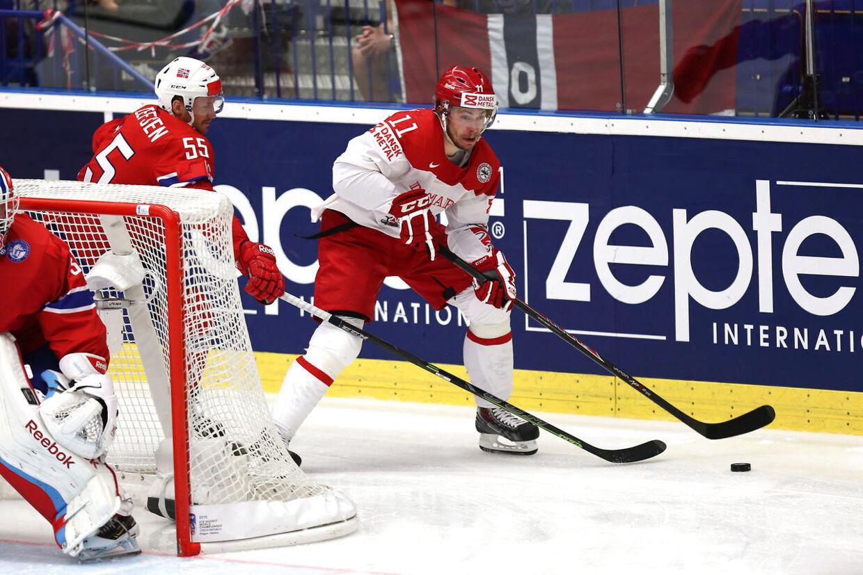 Patrick Bjorkstrand har været en af VMs bedste danske spillere og nyder at være genforenet med sin lillebror Oliver.
