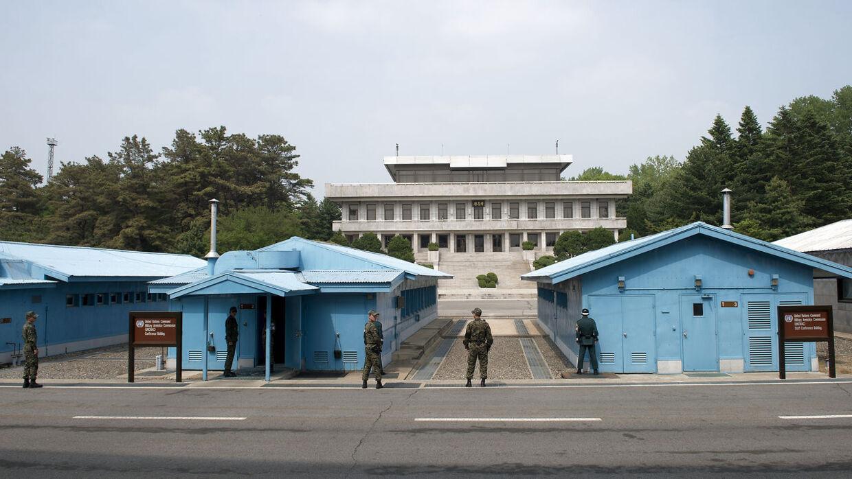 Den demilitariserede zone mellem Syd- og Nordkorea.