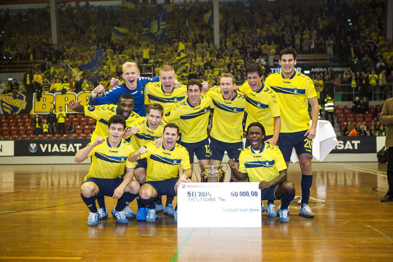 Viasat Cup i Brøndbyhallen. Finalen mellem Brøndby og AAB. Brøndby vandt 1-0.