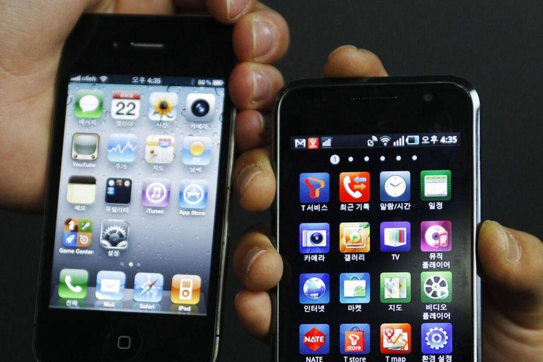 iPhone 4 (tv) og Samsungs Galaxy S