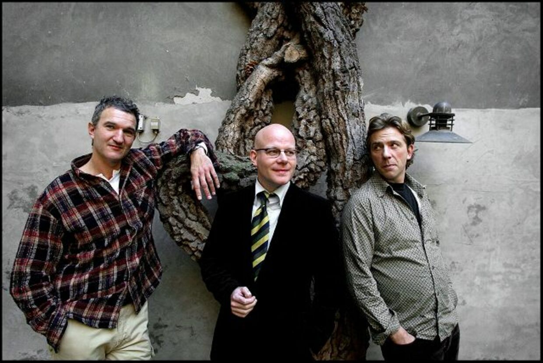 Altid 100 pct: Vennen og kollegaen Carsten Dahl (th) har sine skænderier med Blachman. Men han kan ikke undvære ham.