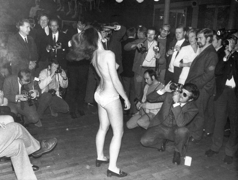 Sexmesse i KB-Hallen i 1969. Gennem årene har hallen dannet rammen om en lang række historiske arrangementer.