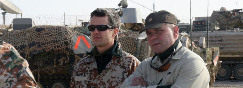Kronprins Frederiks og forsvarsminister Søren Gade overnattede på  lige fod med soldaterne i Afghanistan.