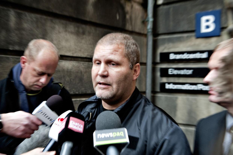 Her snakker Jønke med pressen efter frifindelsen i Østre Landsret. Nu ender sagen måske i Højesteret.