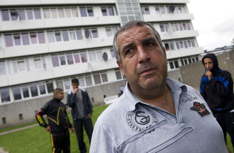 Vollsmose Uro i forbindelse med en række anholdelser tirsdag. Her talsmand Acmed Muhammed