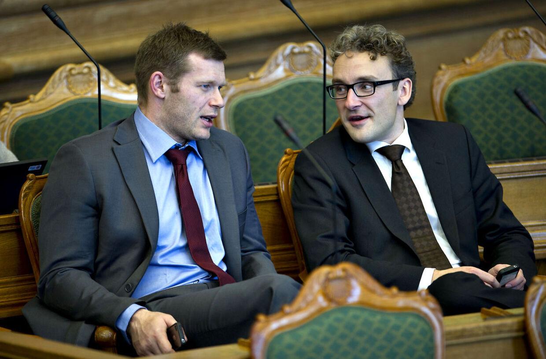Joachim B. Olsen og Ole Birk Olesen fra Liberal Alliance.