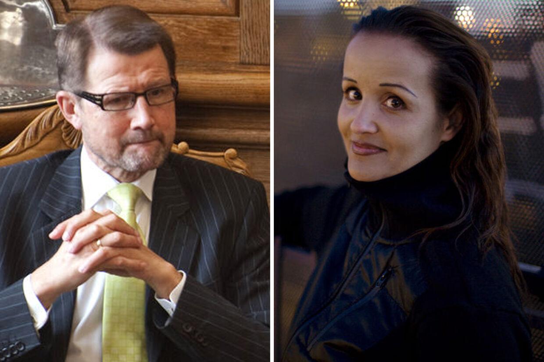 Helge Sander og den svindel-mistænkte hjerneforsker Milena Penkowa.