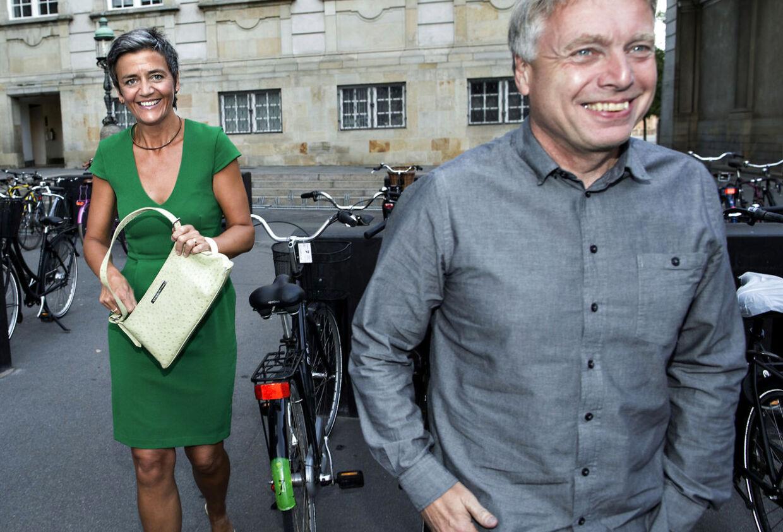 Margrethe Vestager var kort for hovedet og skulle hjem til nogle gule ærter, udtalte hun.