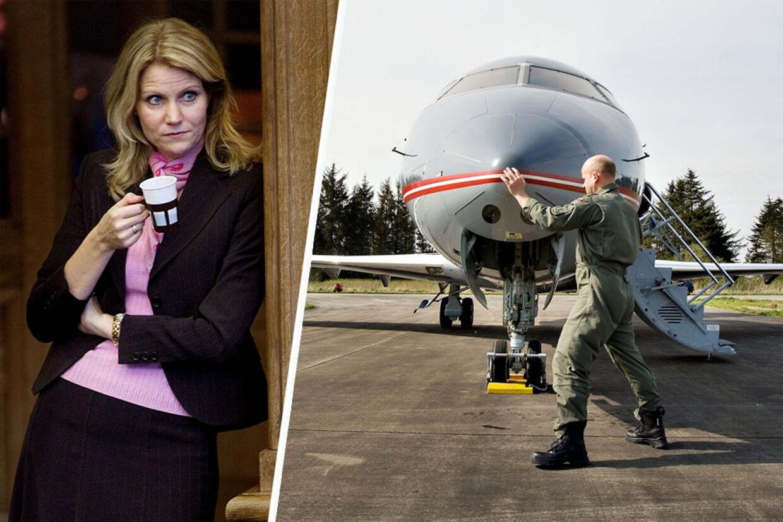 Statsminister Helle Thorning-Schmidt hyrer ofte flyvevåbnets Challenger-fly til tjenesterejser. Men hendes særlige ønsker til kaffe om bord volder problemer i forsvaret, som kun serverer BKI.