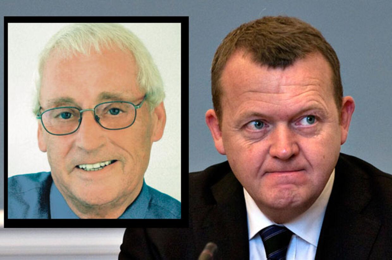 Lars Løkke Rasmussen har fået endnu en politisag på halsen. Denne gang er det den tidligere konservative borgmester i Skævinge (lille billede), der har meldt statsministeren til politiet.