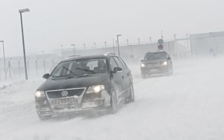 Mandag er der varsel om snefygning i den nordlige del af landet. Især Vendsyssel, Himmerland og Midt- og Nordsjælland må døje med sne i øjnene og på bilruderne. (Arkivfoto)