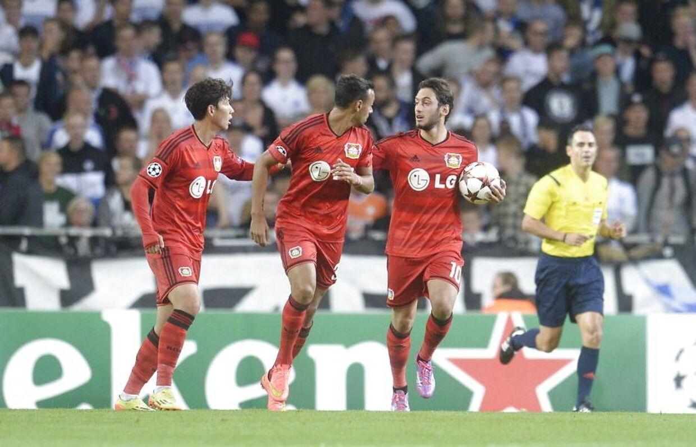 Bayer Leverkusen kom hurtigt foran 1-0.