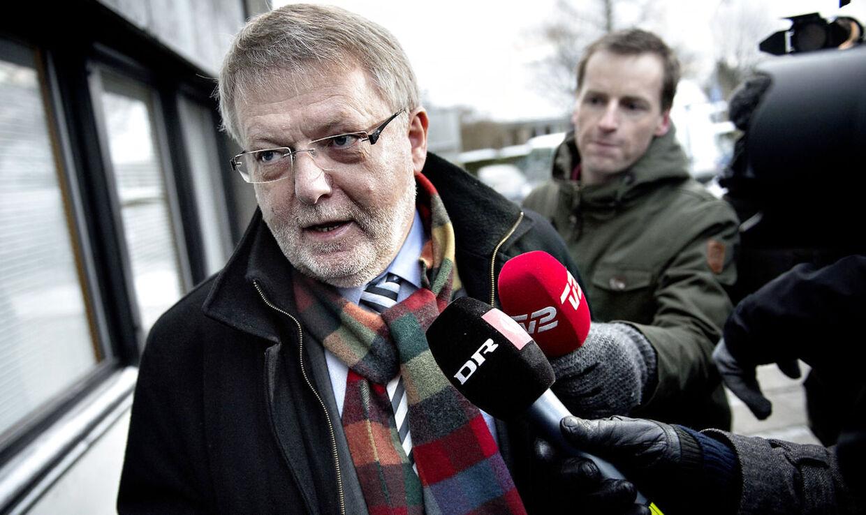 Erling Andersen, direktør i SKAT København, ankommer til Skattesagskommissionen i Søborg torsdag 13.december 2012. Erling Andersen skal afgive forklaring i sagen om Helle Thorning-Schmidts skatteforhold. (Foto: Keld Navntoft/Scanpix 2012)