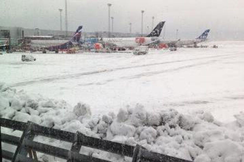 Her et billede lagt på Facebook i dag fra lufthavnen i Kastrup.