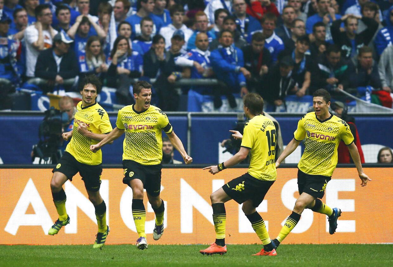TV-stationen Sky sprænger banken med ny aftale med den tyske Bundesliga - her Borussia Dortmund i aktion.